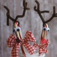 Candy Cane Reindeer Craft