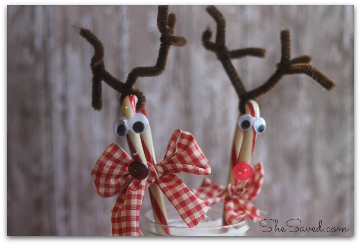 Reindeer Candy Cane