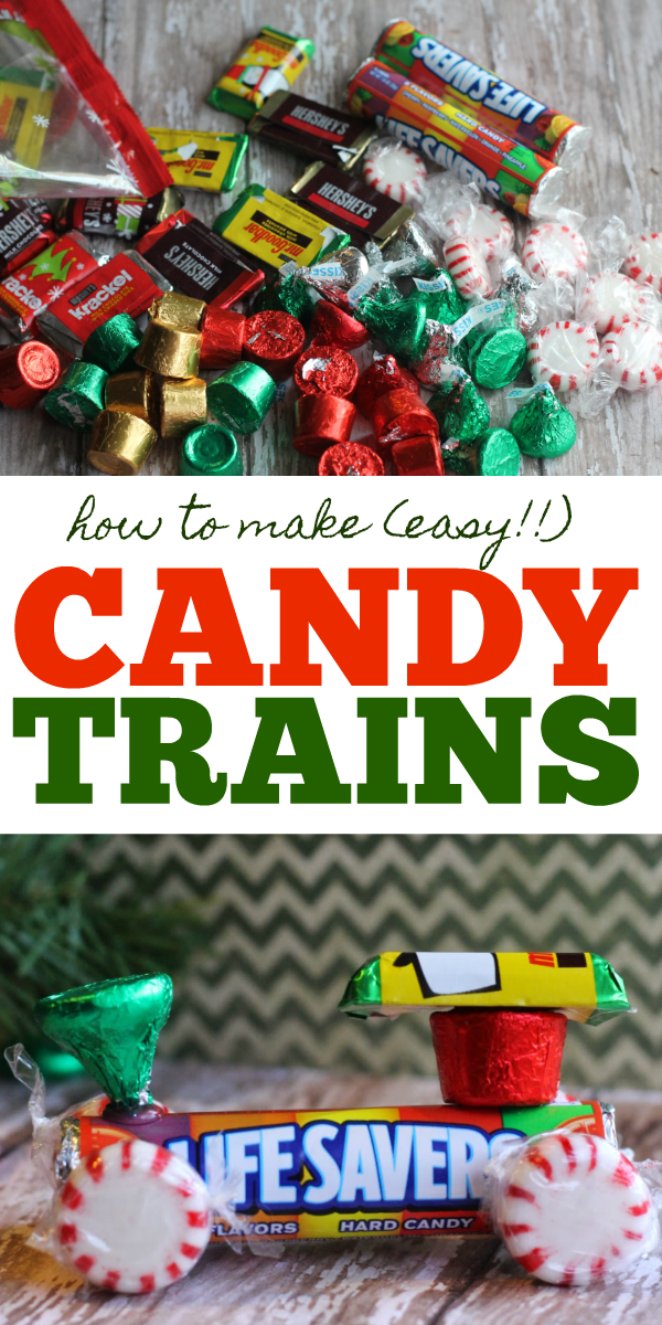 Candy Trains made out of Lifesaver rolls and candy