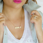 Gold Bar Initial Necklaces