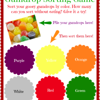 FREE Gumdrop Sorting Game Printable