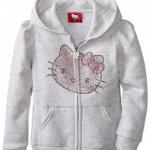Hello Kitty Girls Fleece Hoodie For $16.20 Shipped