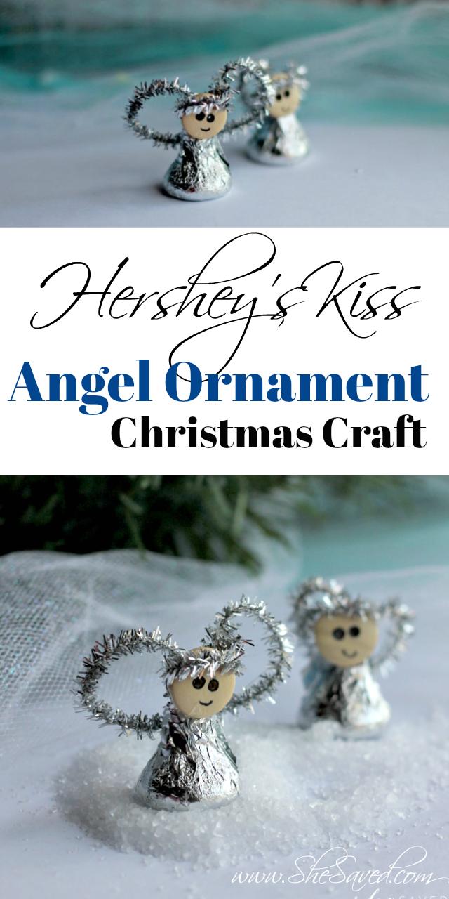 Hershey's Kiss Angel Christmas Ornament