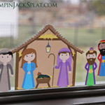 Repositionable Fabric Nativity Set