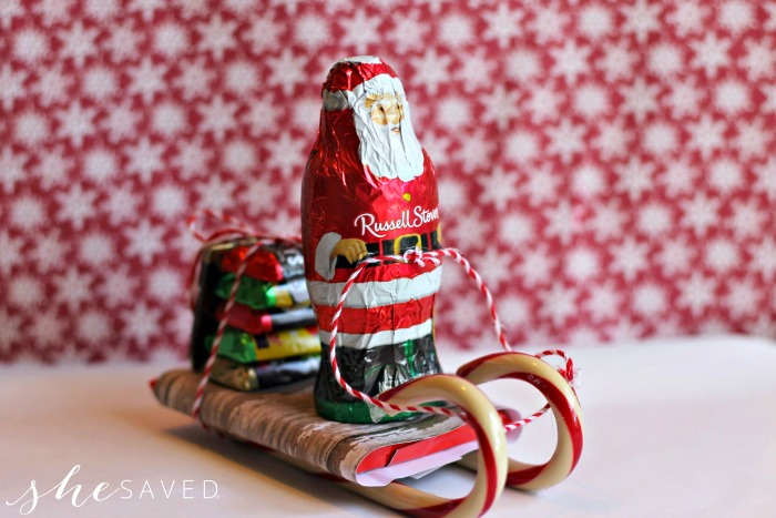 Santa Candy Sleigh Craft