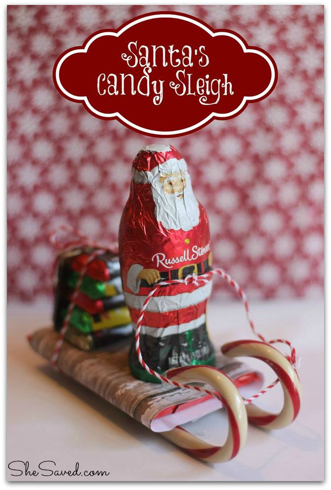 Santa Candy Sleigh Christmas Craft Shesaved