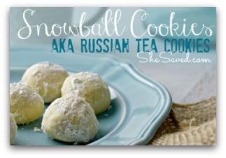 FROZEN Themed Cookies: Snowball Cookies