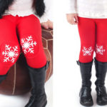 Snowflake Patch Girls Leggings