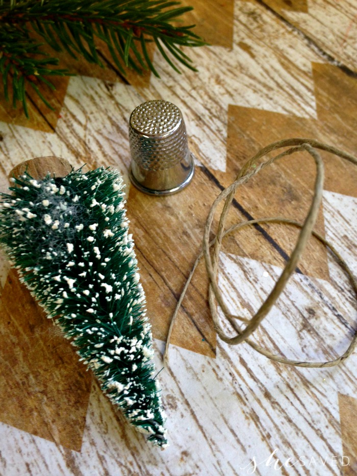 Thimble Tree Ornament Craft