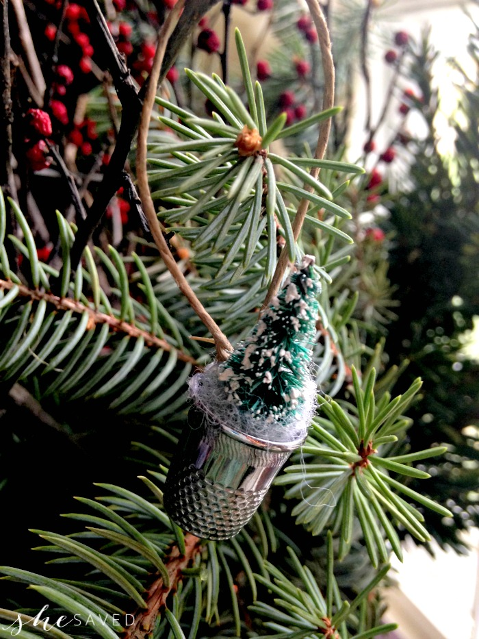 Vintage Thimble Ornament