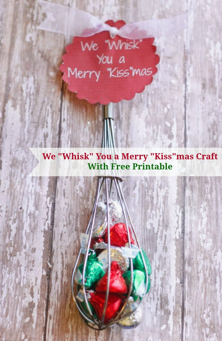 How to make Whisk You a Merry Kiss-mas Craft