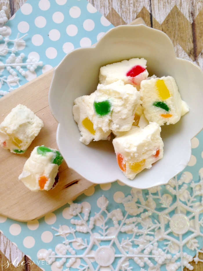 White Gumdrop Fudge