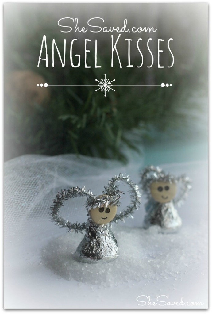 Hershey\'s Kiss Angel Ornament Craft - SheSaved®