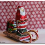 Santa Sleigh made of candy