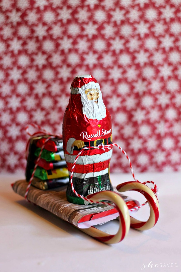 Fun Santa Candy Sleigh Craft DIY made out of candy