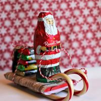 Santa Candy Sleigh Christmas Craft