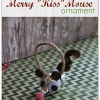Merry KISS Mouse Hersheys Kiss Ornament Craft
