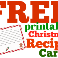 FREE Christmas Recipe Card Printable