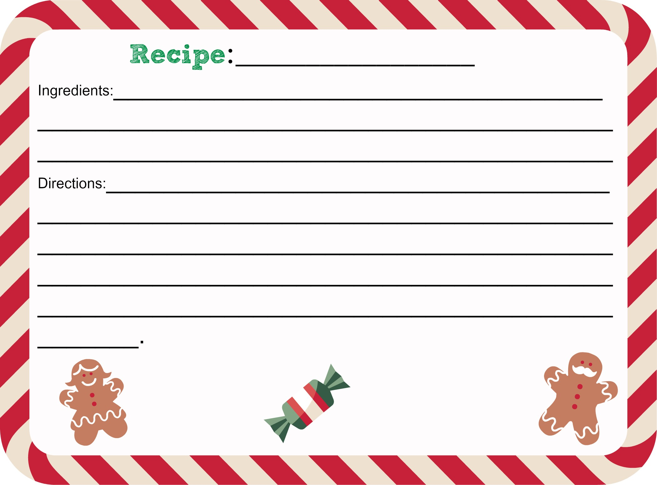 photograph regarding Printable Christmas Recipe Cards named Totally free Printable Xmas Recipe Card - SheSaved®