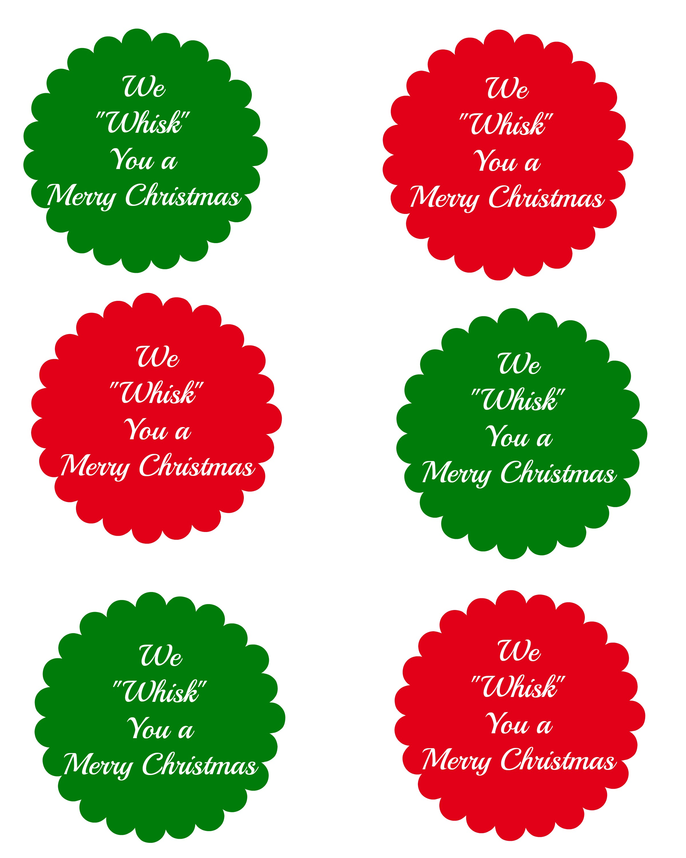 graphic about We Whisk You a Merry Kissmas Printable Tag named Exceptional Present Concept: We Whisk Your self a Merry Kiss-mas Craft - SheSaved®