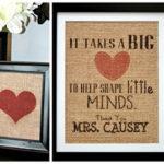 Burlap Heart Prints