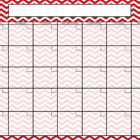 Chevron Dry Erase Calendar For $9.99