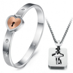Couples Valentine Jewelry Set