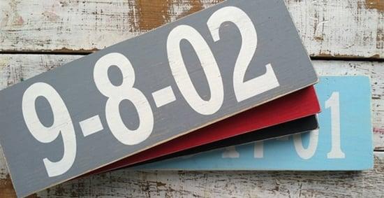 Custom Date Sign