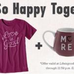 Life Is Good Crusher Tee & Mug