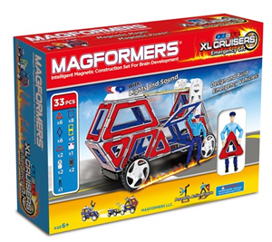 Magformers XL Cruisers Emergency Set For $36.99