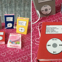 Music Player Valentine Favors Set of 4 For $3.99