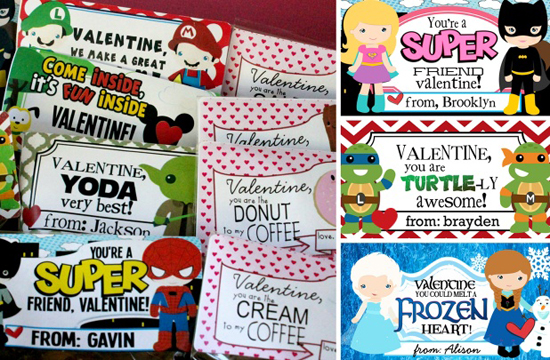 Personalized Valentine Stickers Set of 30 For $6.95
