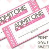 Valentine Coupon Book FREE Printable: Tickets to Love