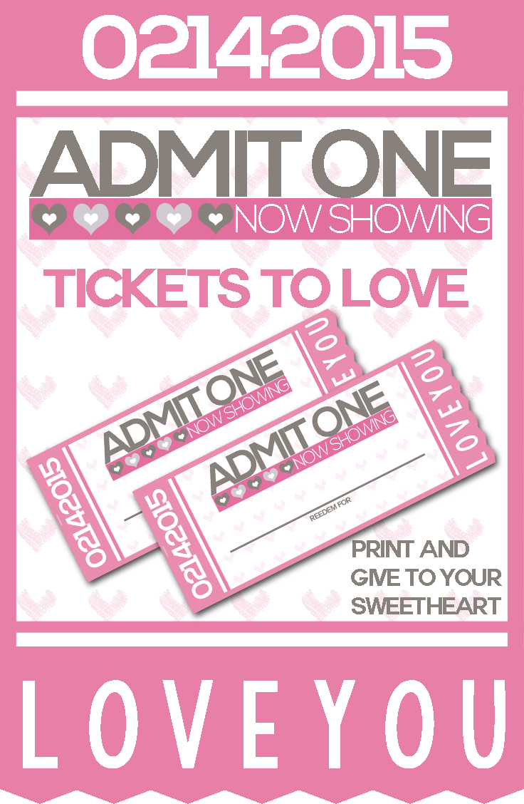 Free Printable Ticket to Love Coupon Book