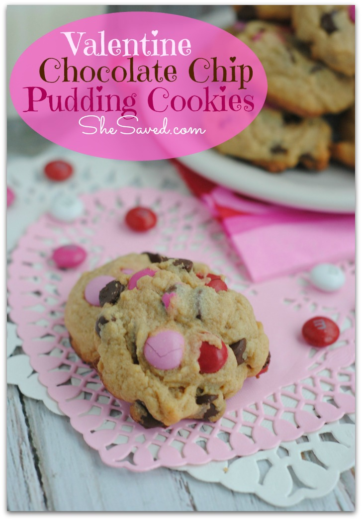 Valentine Pink Chocolate Chip Cookies Recipes — Dishmaps