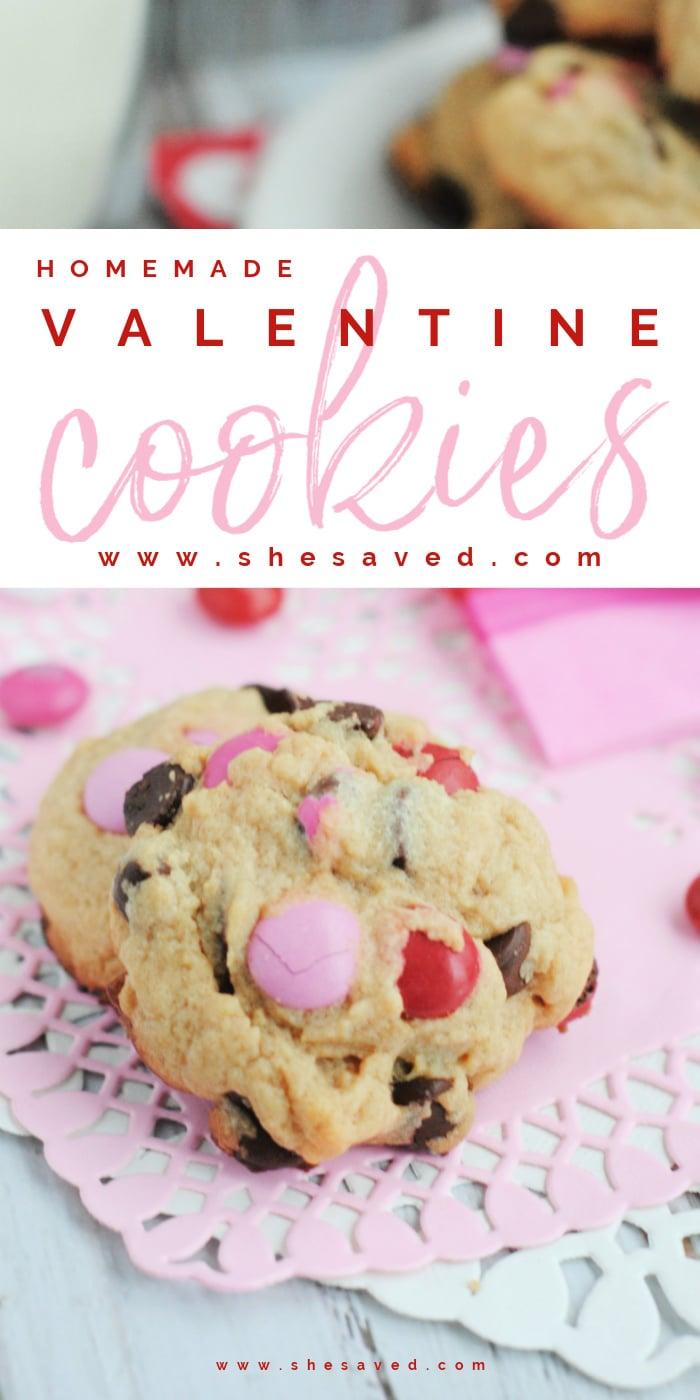 M&Ms Valentine Cookies Recipe