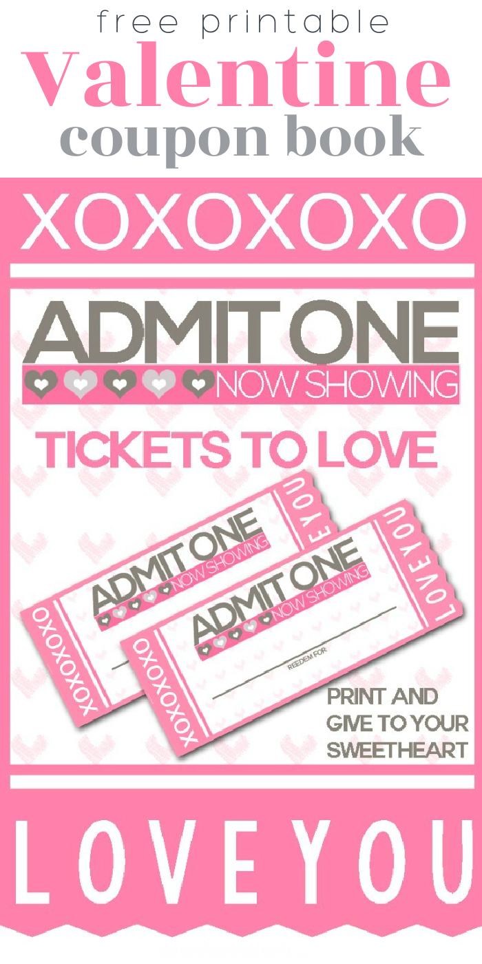 Free Printable Valentine Coupon Book to show your love!