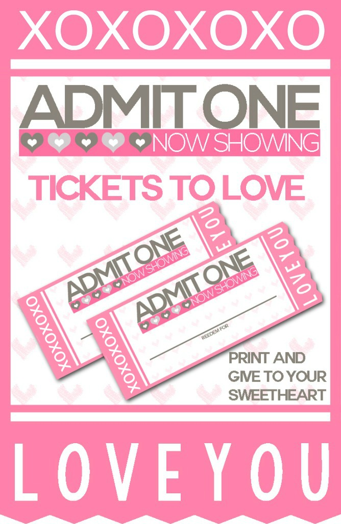 Heres A Great Gift Idea Print My FREE Ticket To Love Valentine Coupon Book