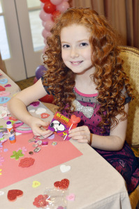 Actress Jesssica Capaldi Joined by friends at Peanuts Themed Valentine's Day Party.