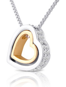 Double Open Heart Necklace
