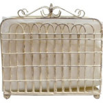 Shabby Chic Garden Gate Metal Lunch Napkin Holder