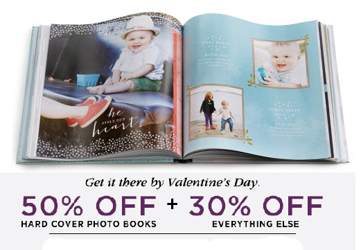 Shutterfly Up to 50% Off Photo Books + 30% Off Everything