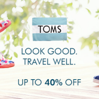 TOMS Sale! Up to 40% Off!