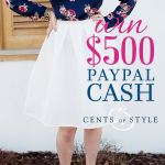 Enter to WIN $500 in PayPal cash from Cents of Style!!