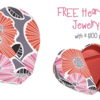 FREE Heart to Heart Jewelry Case With Vera Bradley Purchase