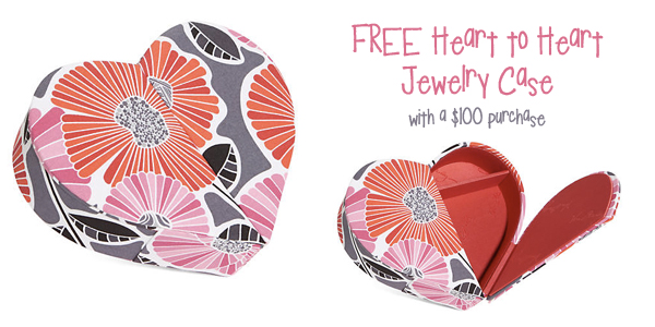 FREE Heart to Heart Jewelry Case