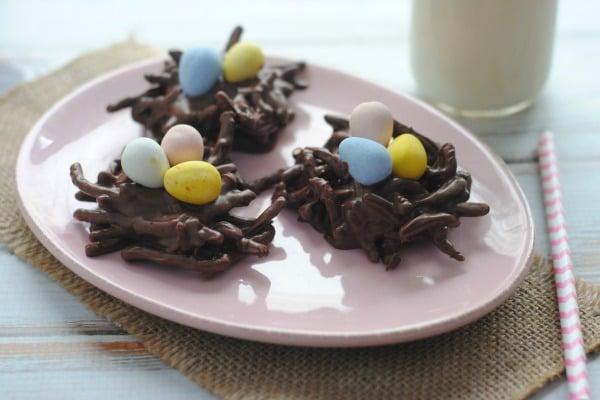 Nutella No-bake Bird Nest Cookie Recipe