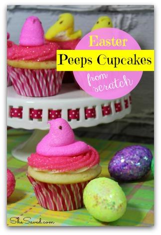 Easter Peeps Cupcake Recipe
