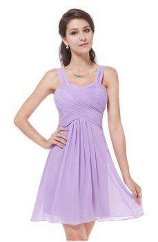 Ever Pretty Ruffles Padded Chiffon Knee-length Dress