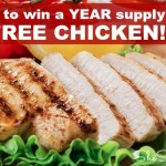Enter to win a Year Supply of FREE Chicken (2 Winners) Plus Enter to Win a Year Supply of Beef